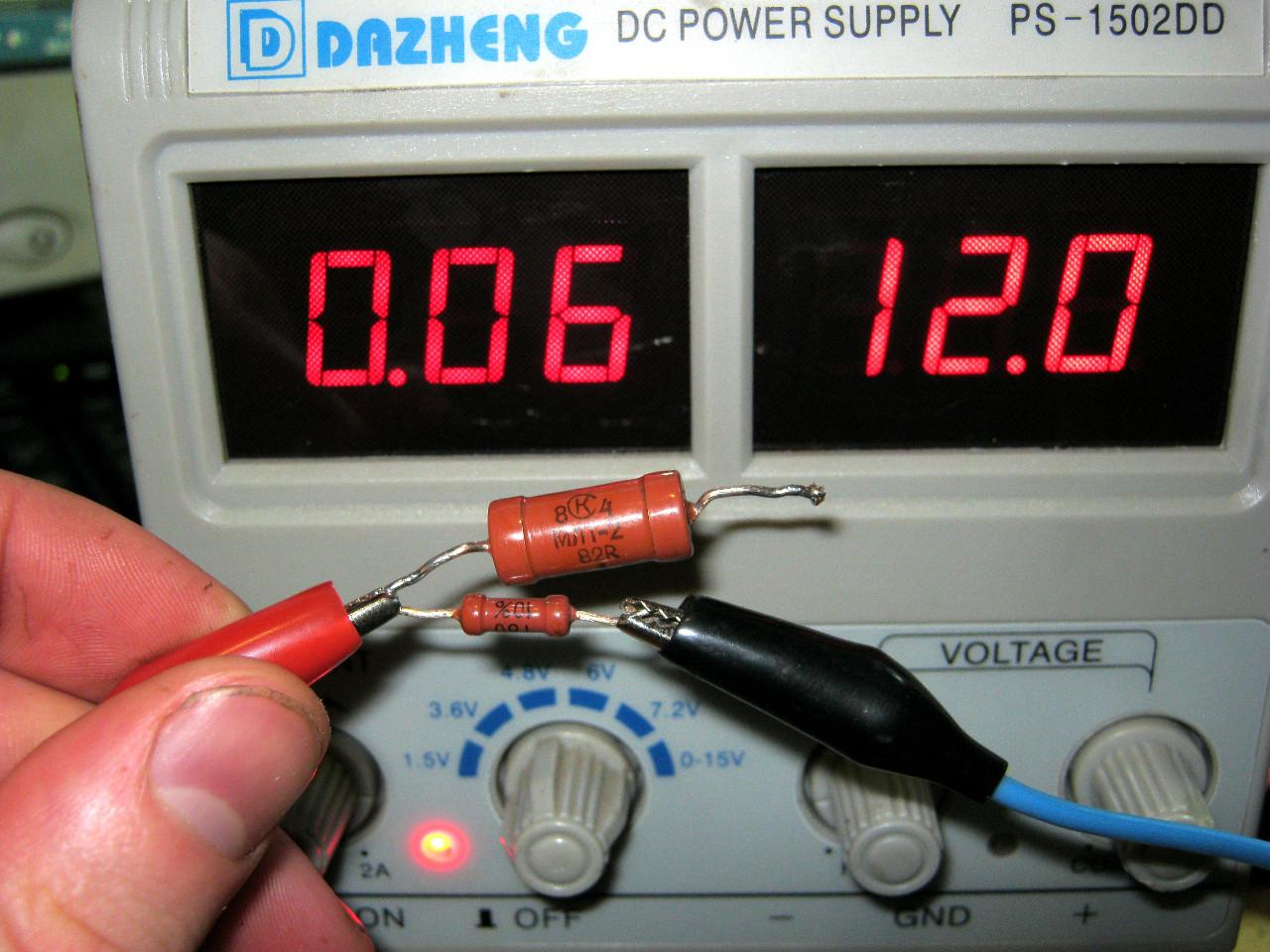 делитель тока на резисторах