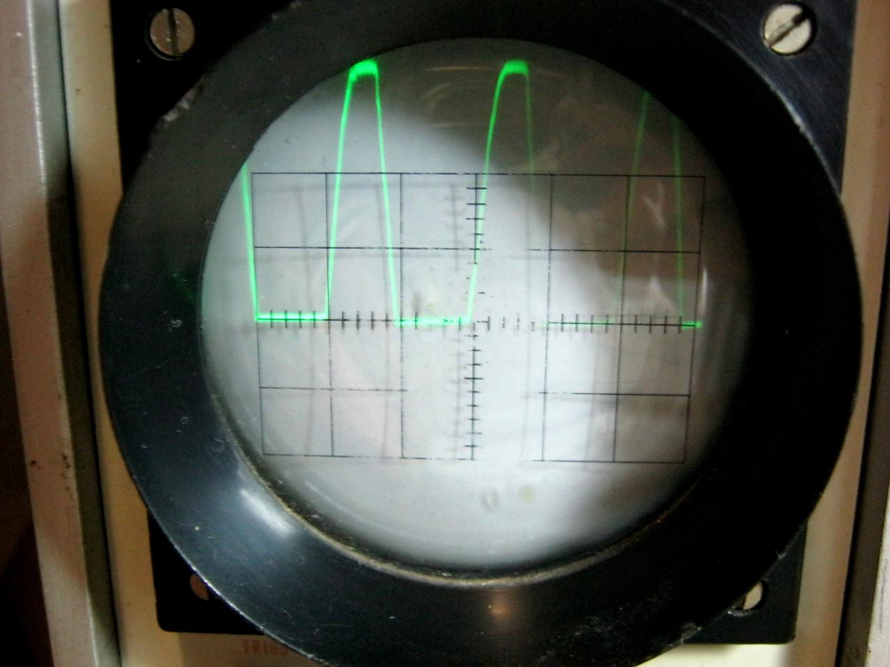 осциллограмма однополупериодного выпрямителя