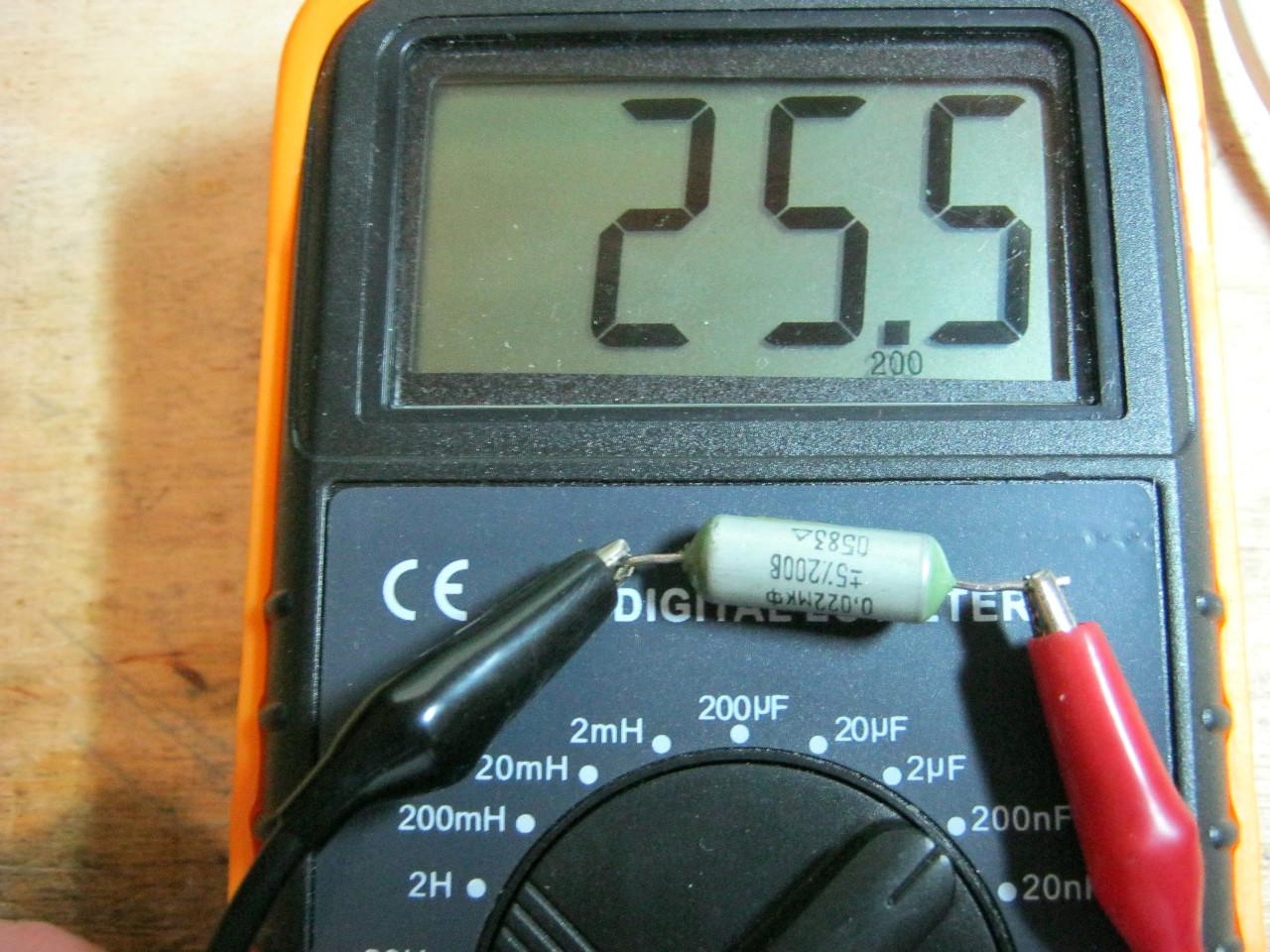 как замерить емкость конденсатора