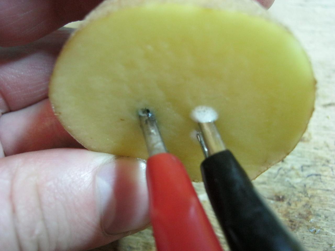 как определить полярность с помощью картошки