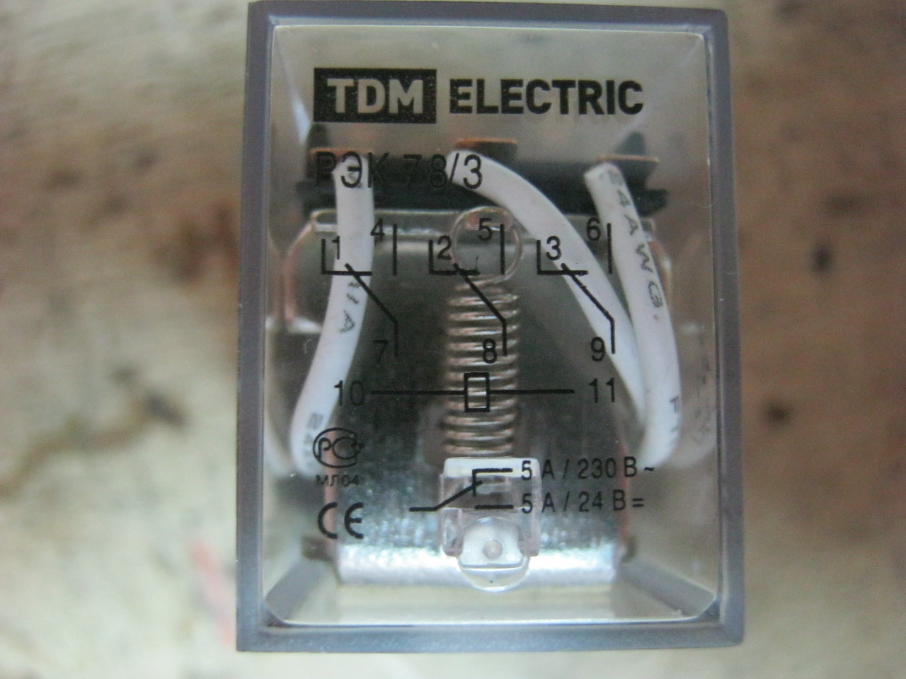 электромагнитное реле tdm