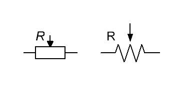 переменные резисторы на схемах