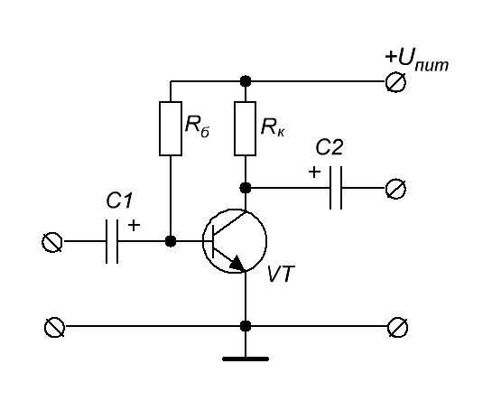 Работа транзистора в режиме усиления