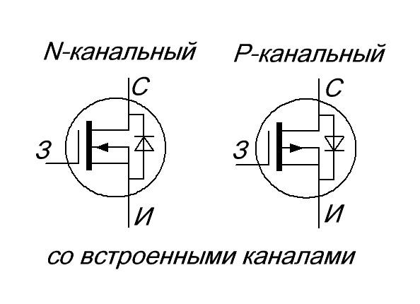 полевой транзистор со встроенным каналом